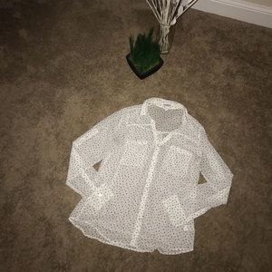 NWOT! Classy Express sheer blouse with stars